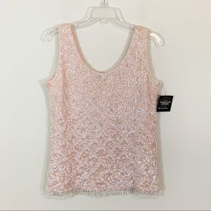 VTG Marianne Fashions • Pink Hand Beaded Top